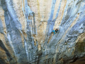 Je suis cuite 8a+ in Citdibi; Foto Wolfgang Ebner
