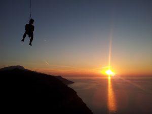 Im Sonnenuntergang in Valldemossa